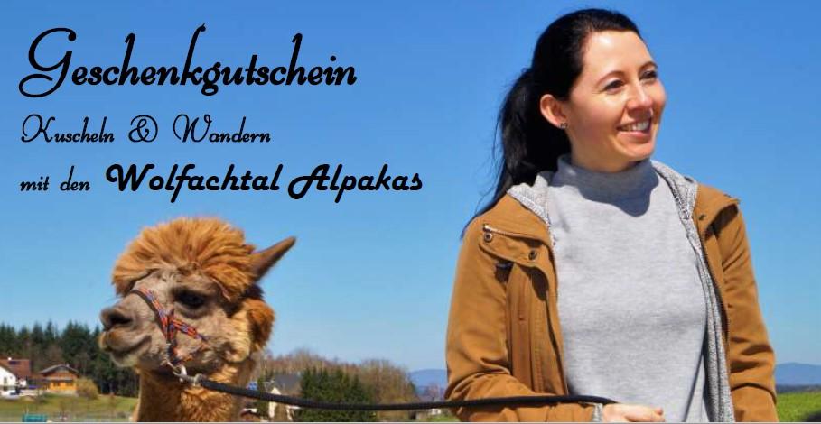 Wandergutschein für 2 Personen & 2 Alpakas